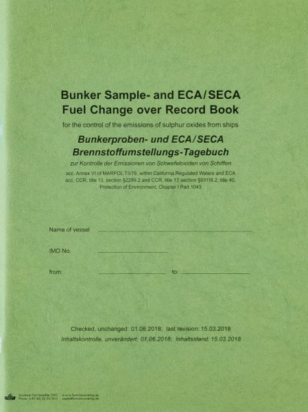 Bunker Sample Record Book