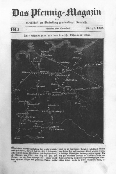 Über Eisenbahnen und das Deutsche Eisenbahnsystem (von 1835)