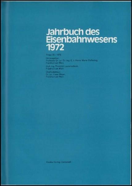 Jahrbuch des Eisenbahnwesens 1972, Band 23