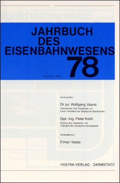 Jahrbuch des Eisenbahnwesens 1978, Band 29