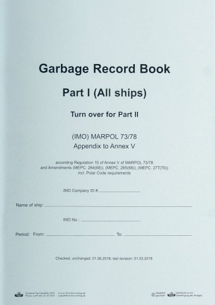 Garbage Record Book Part I + II