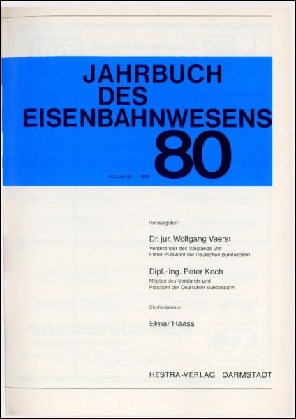 Jahrbuch des Eisenbahnwesens 1980, Band 31