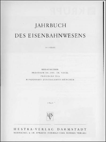 Jahrbuch des Eisenbahnwesens 1963, Band 14