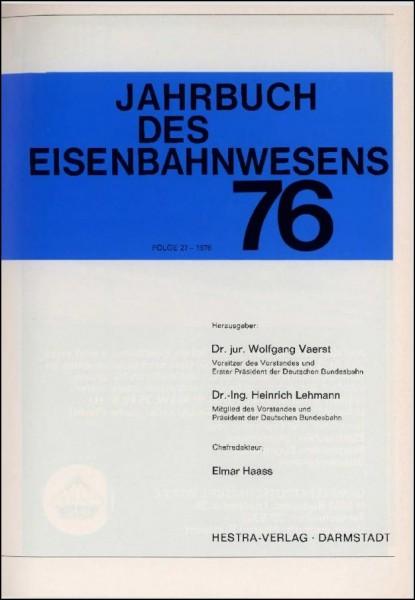 Jahrbuch des Eisenbahnwesens 1976, Band 27