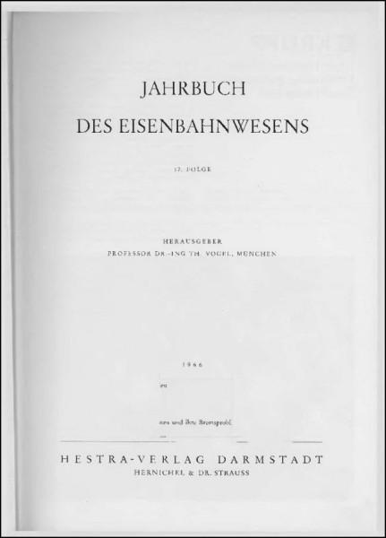 Jahrbuch des Eisenbahnwesens 1966, Band 17