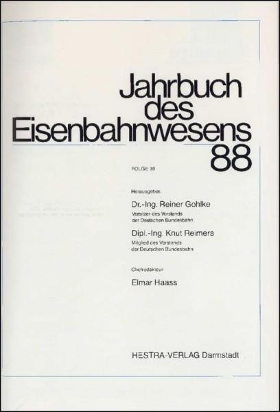 Jahrbuch des Eisenbahnwesens 1988, Band 39
