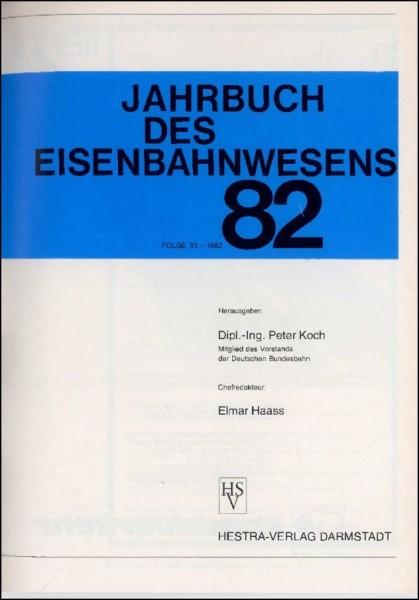 Jahrbuch des Eisenbahnwesens 1982, Band 33