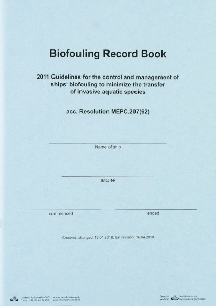 Biofouling Record Book
